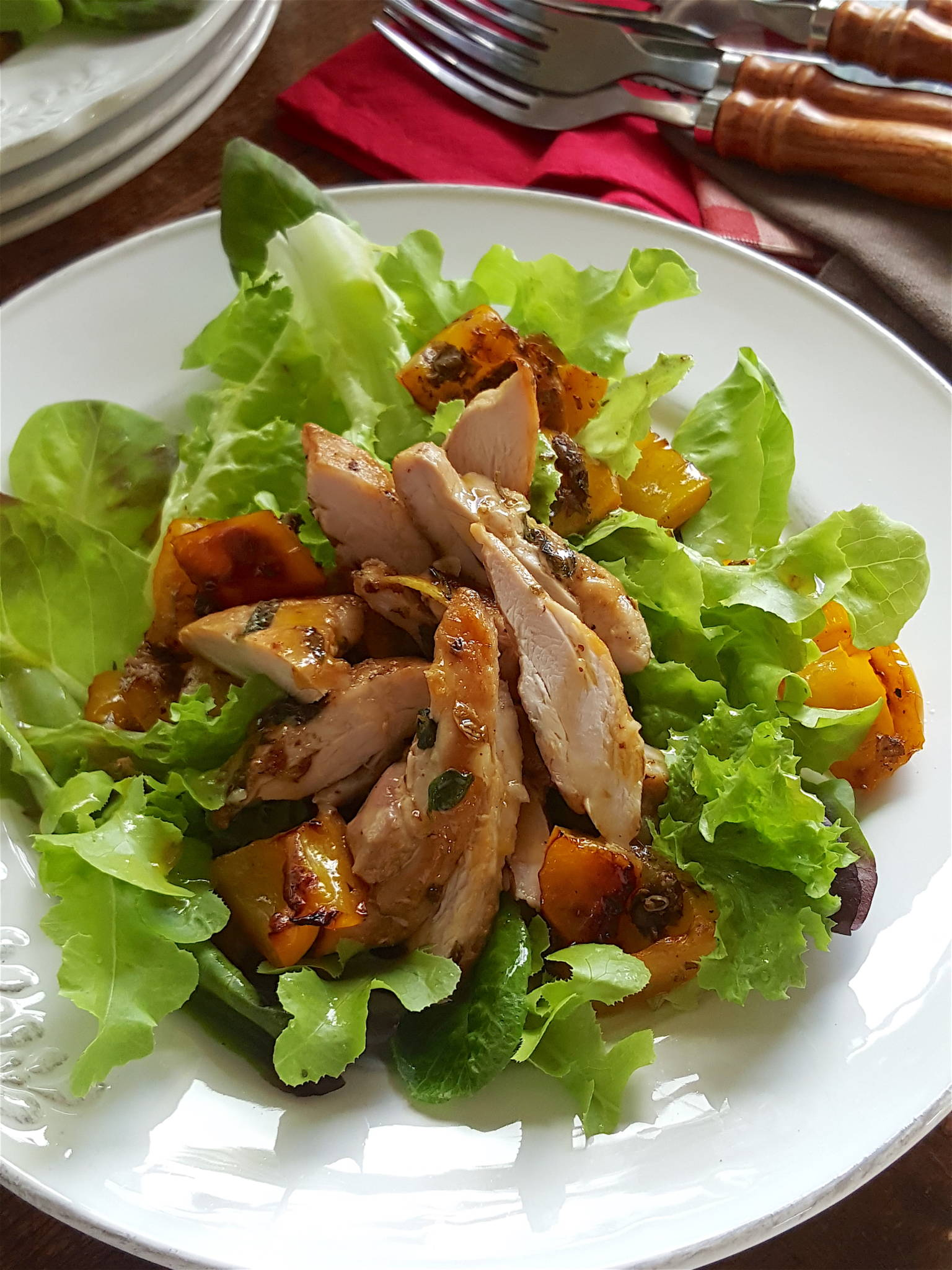 Chicken & Yellow Pepper Salad 2