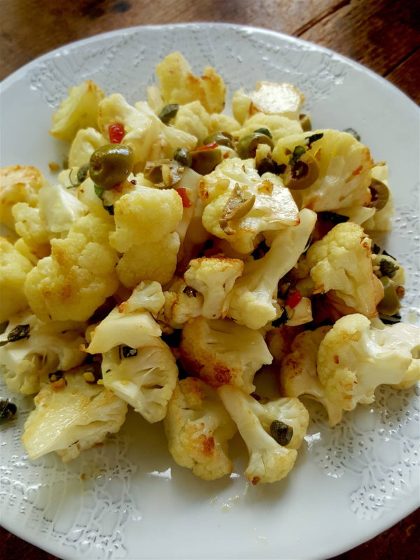 Cauliflower with Spanish Flavours