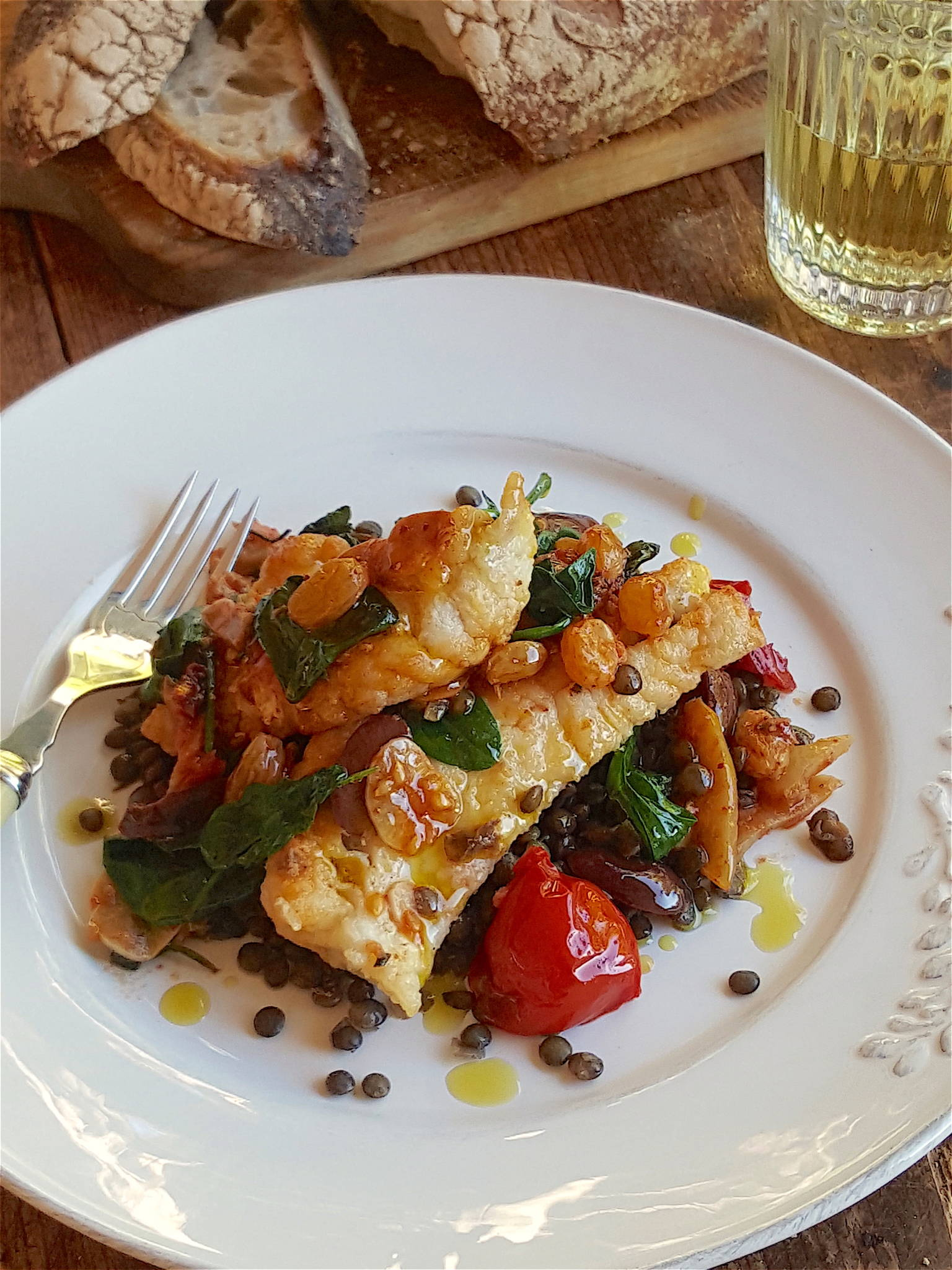 Gingered Fish with Lentils 2