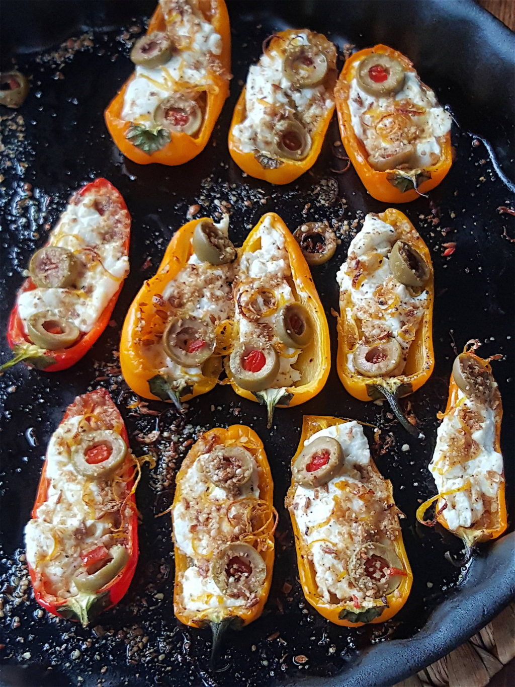 Mini Peppers Stuffed with Goat's Cheese 5