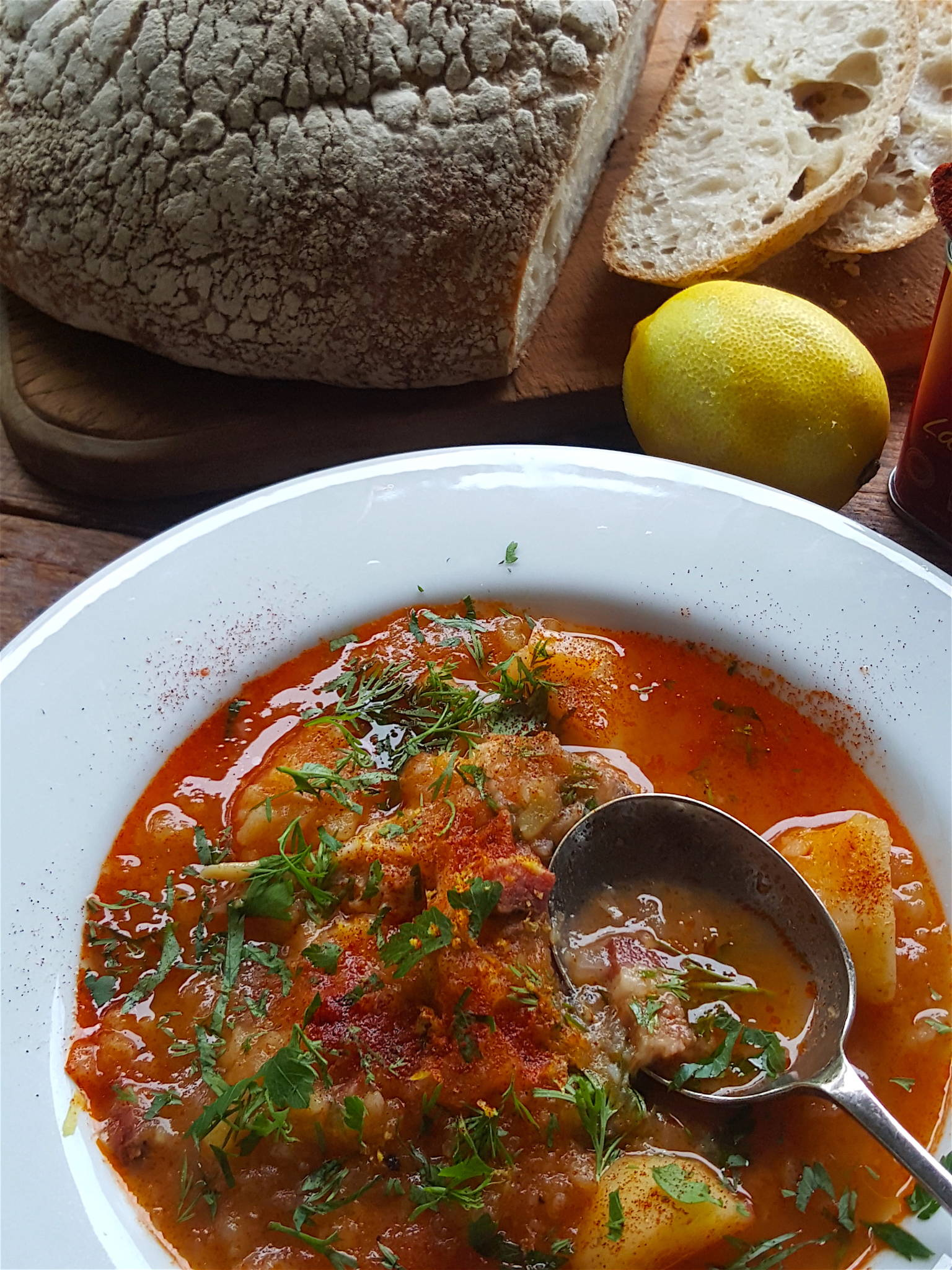 Smoked fish soup 1