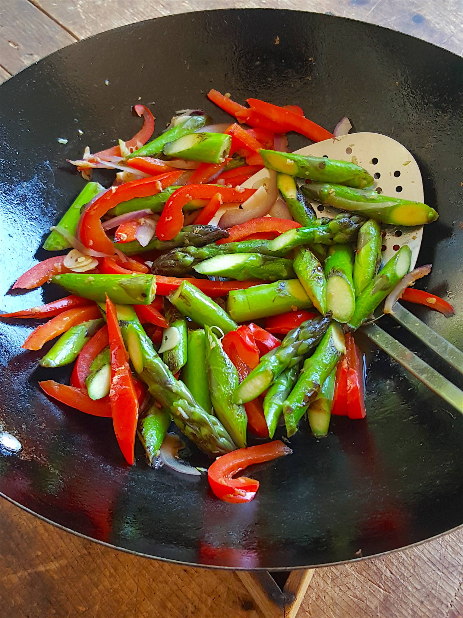 Asparagus & Red pepper Stir-fry