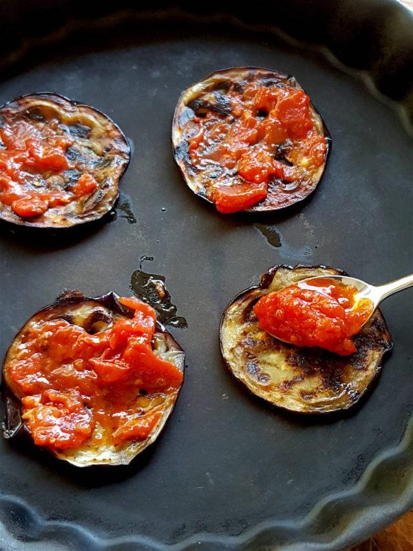 Eggplant & Mozzarella Stacks