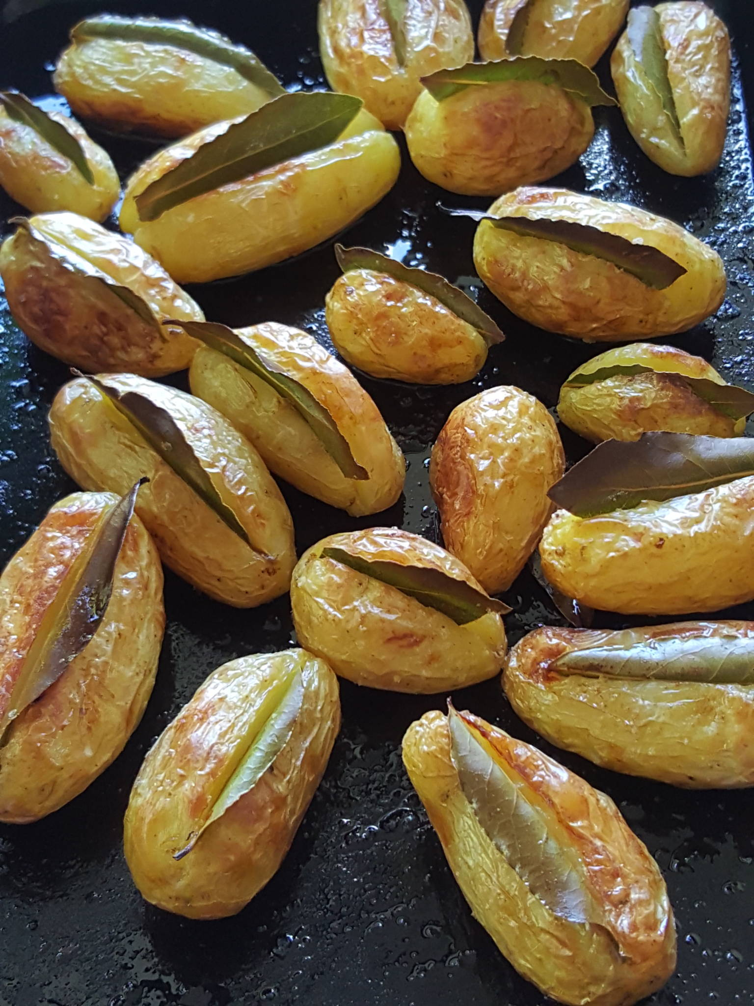 New Potatoes Roasted with Bay Leaves 1