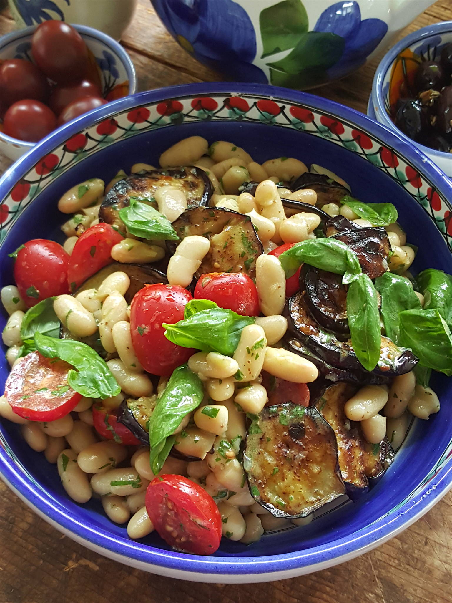 Summer Bean & Eggplant Salad