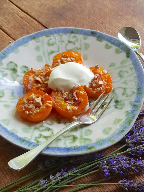 Baked Apricots with Hazelnuts & Lavender 2