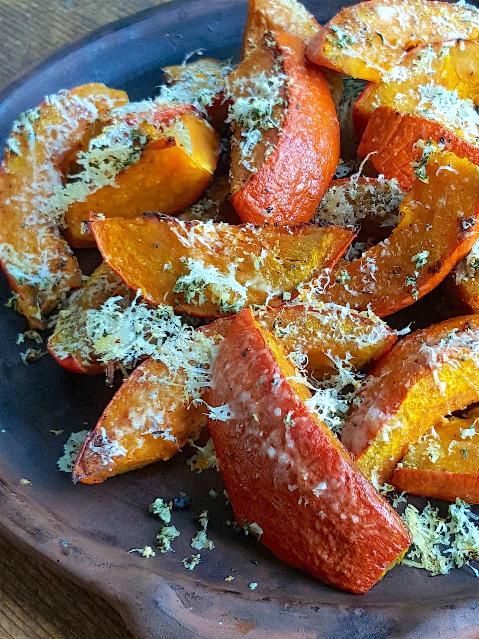 Parmesan Baked Pumpkin