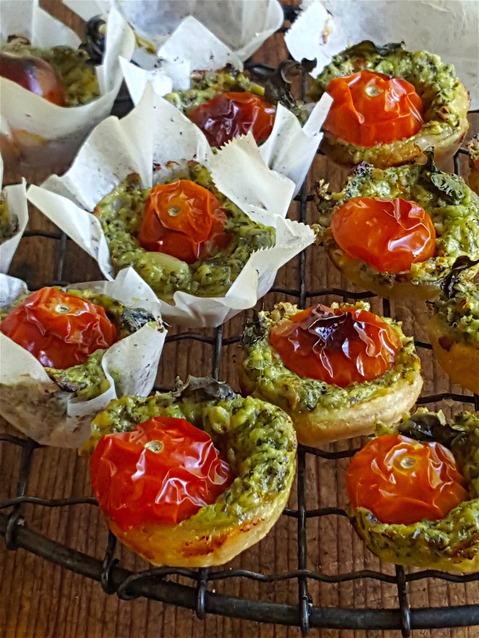 Tomato & Pesto Tartlets