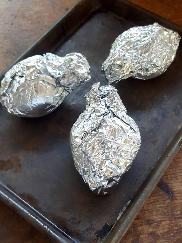 Oven-baking beetroot