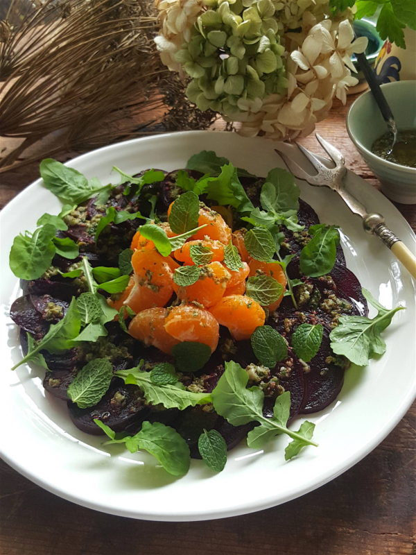 Beetroot & Mandarin Salad with Caper Dressing