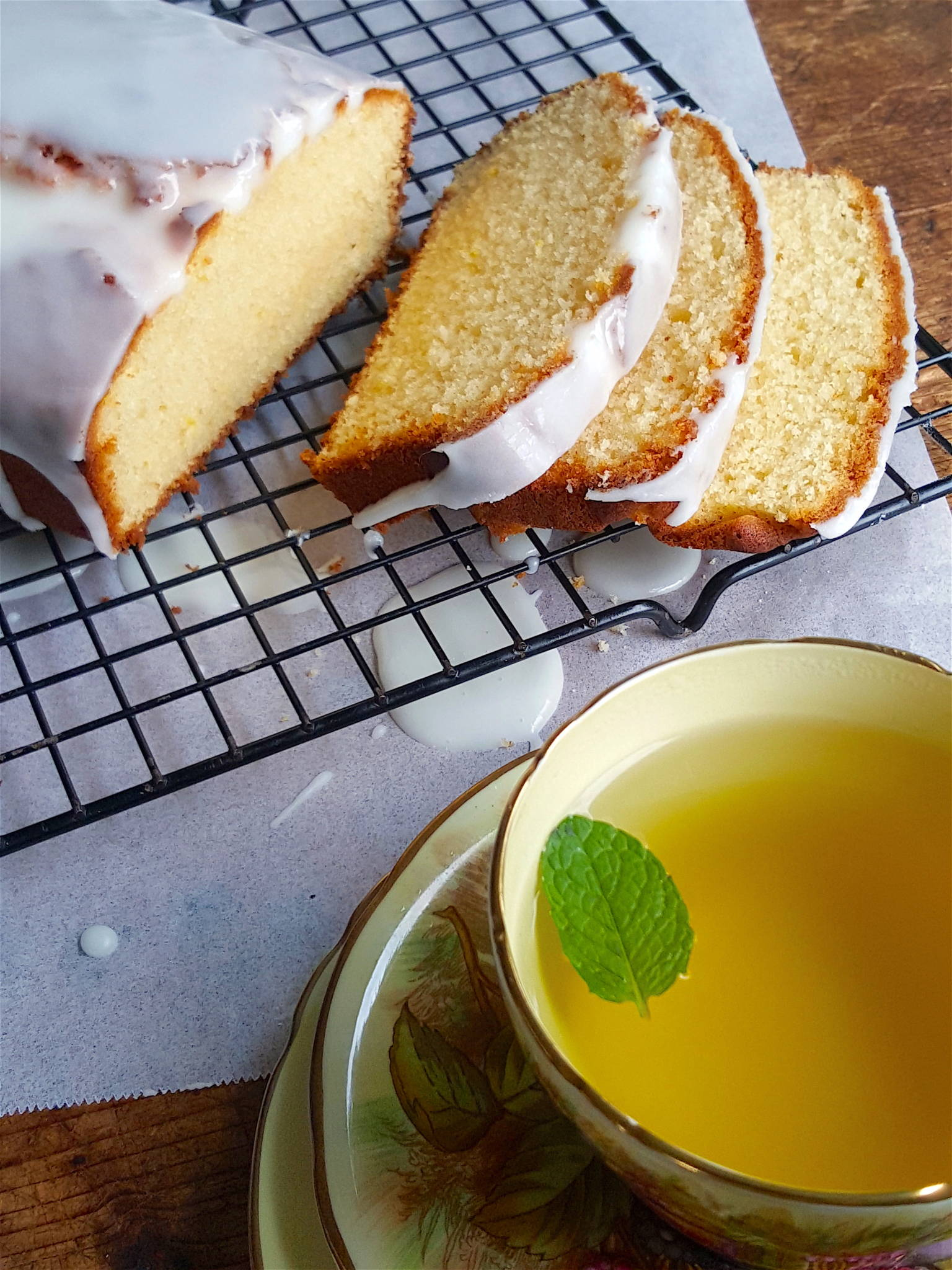 Lemon Loaf with Drippy Icing 1