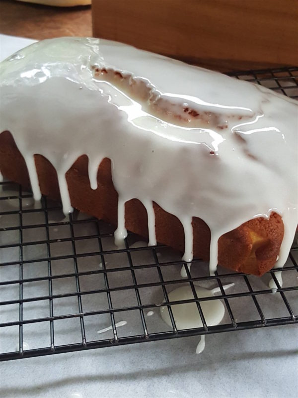 Lemon Loaf with Drippy Icing