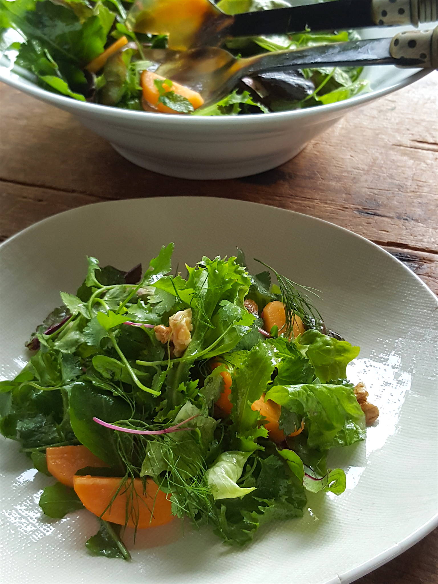 Winter Salad with Walnuts & Persimmon