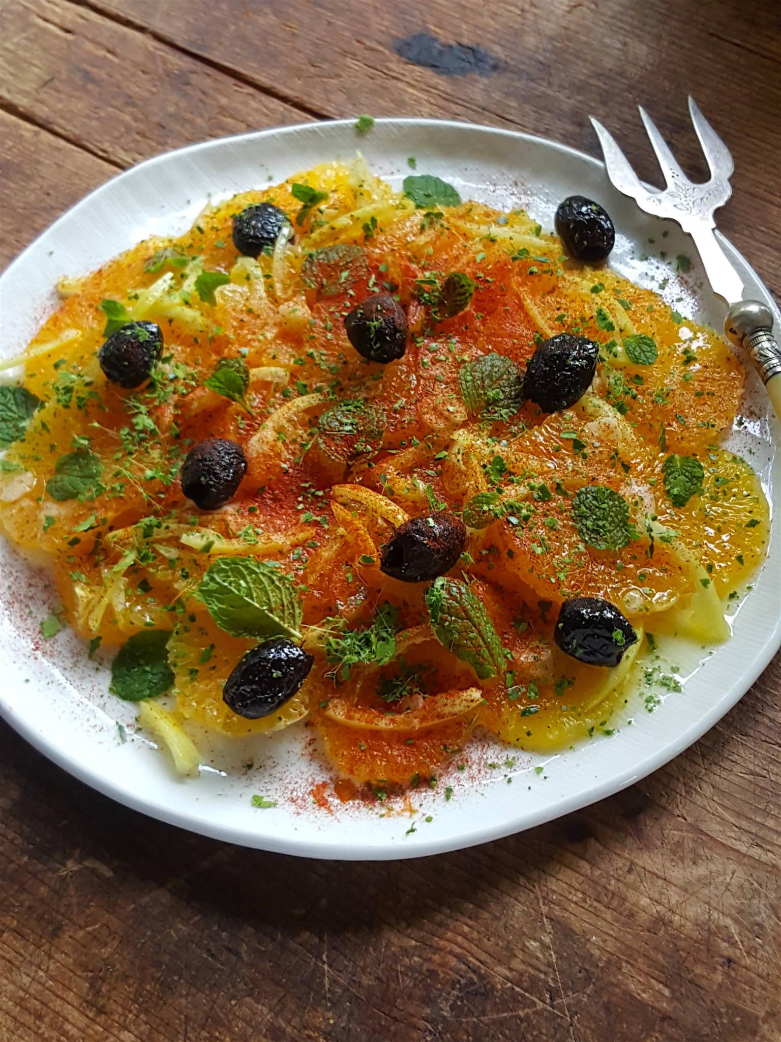 Moroccan Orange & Preserved Lemon Salad