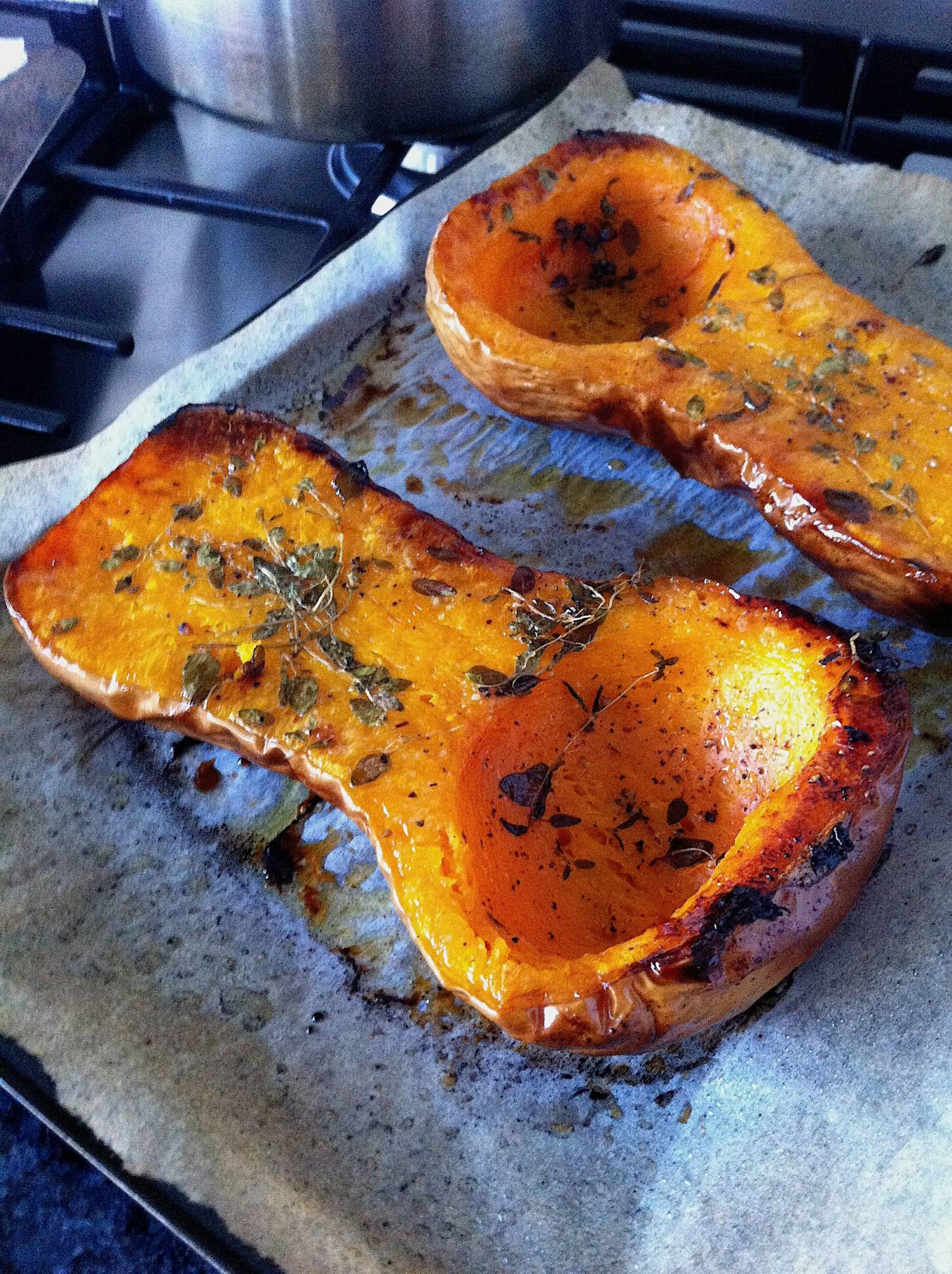 Baked Butternut with Thyme