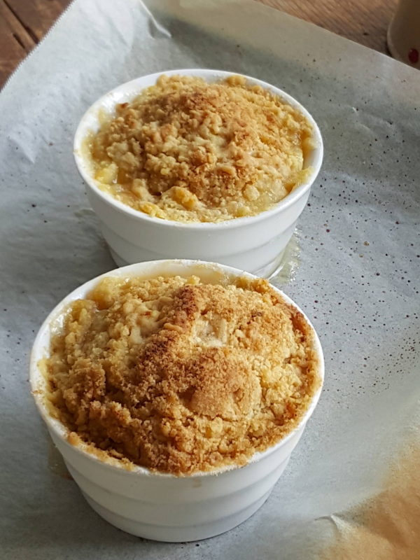 Brown sugar almond crumbles