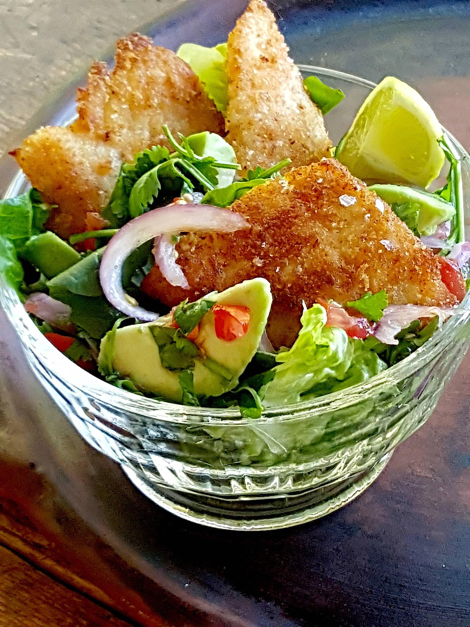 Spring Fish Salad with Avocado