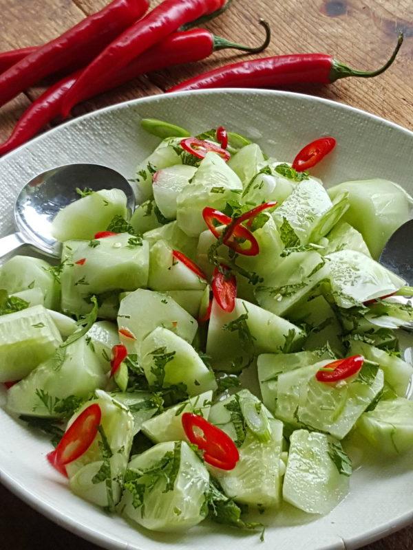 Pep up a cucumber salad
