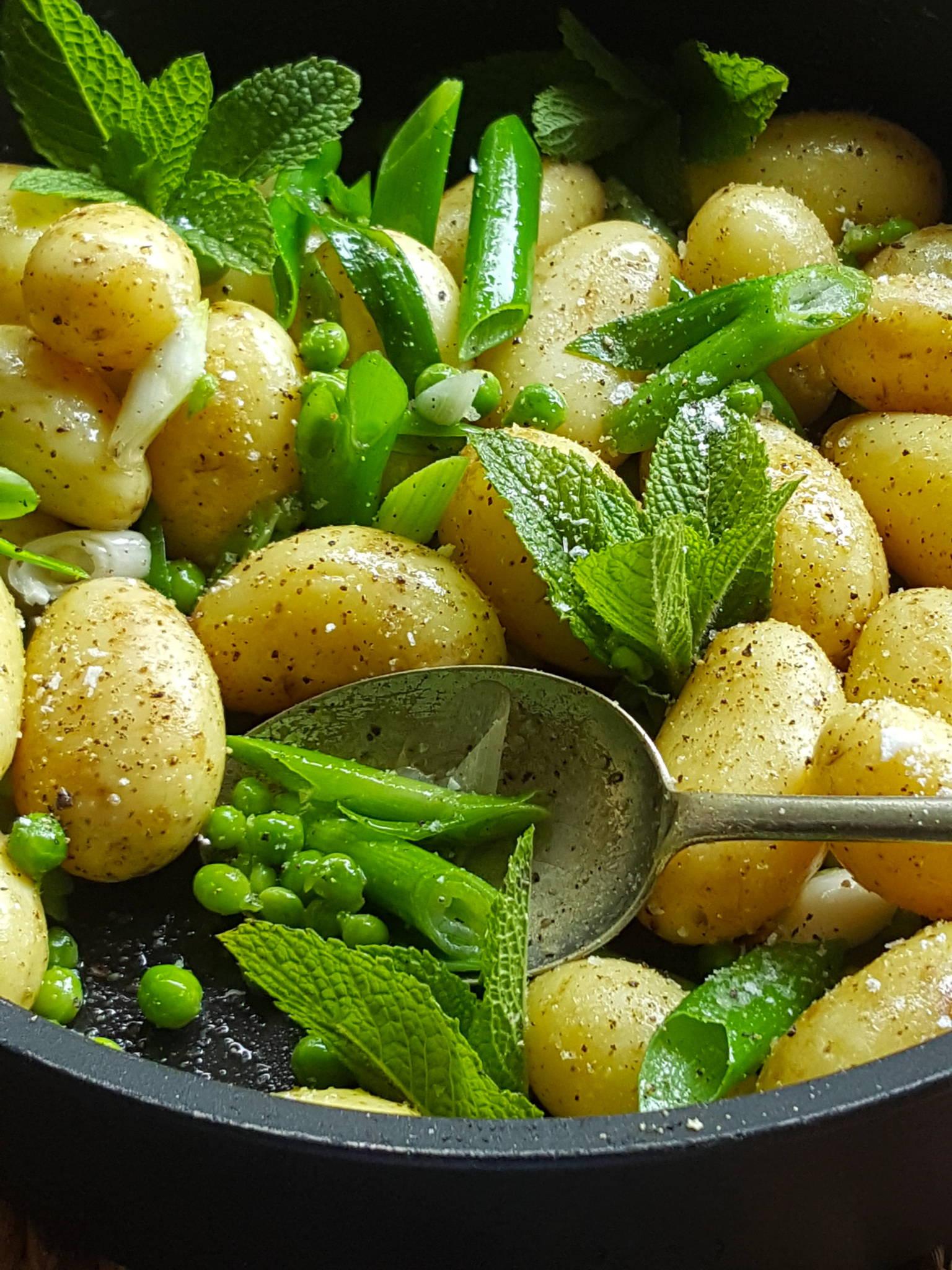 New Potatoes & Baby Peas