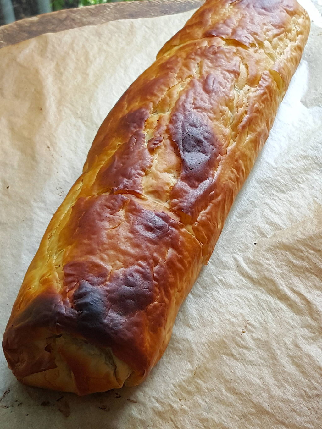 Cook filo to a deep golden brown