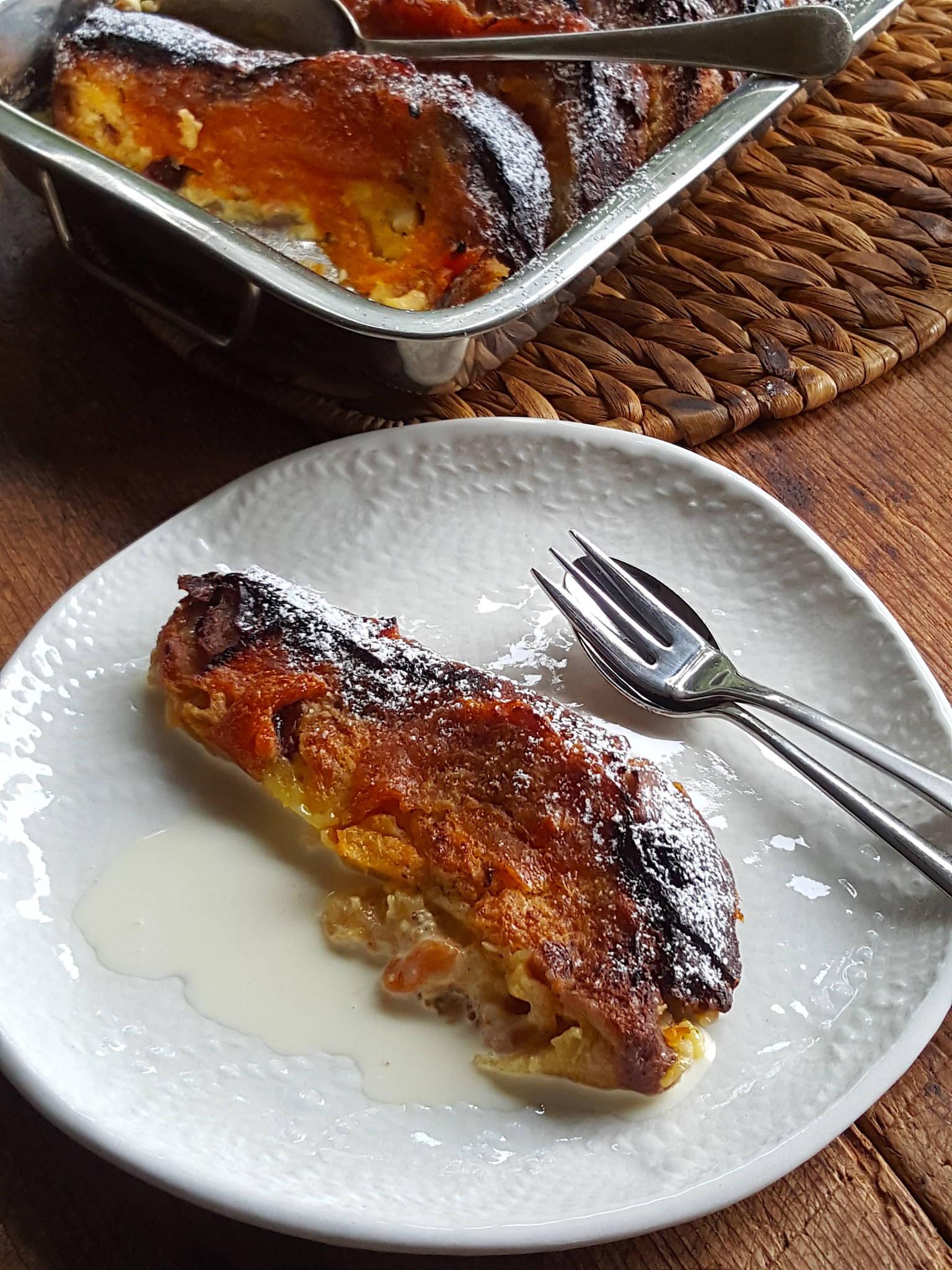 Apricot Panettone Pudding