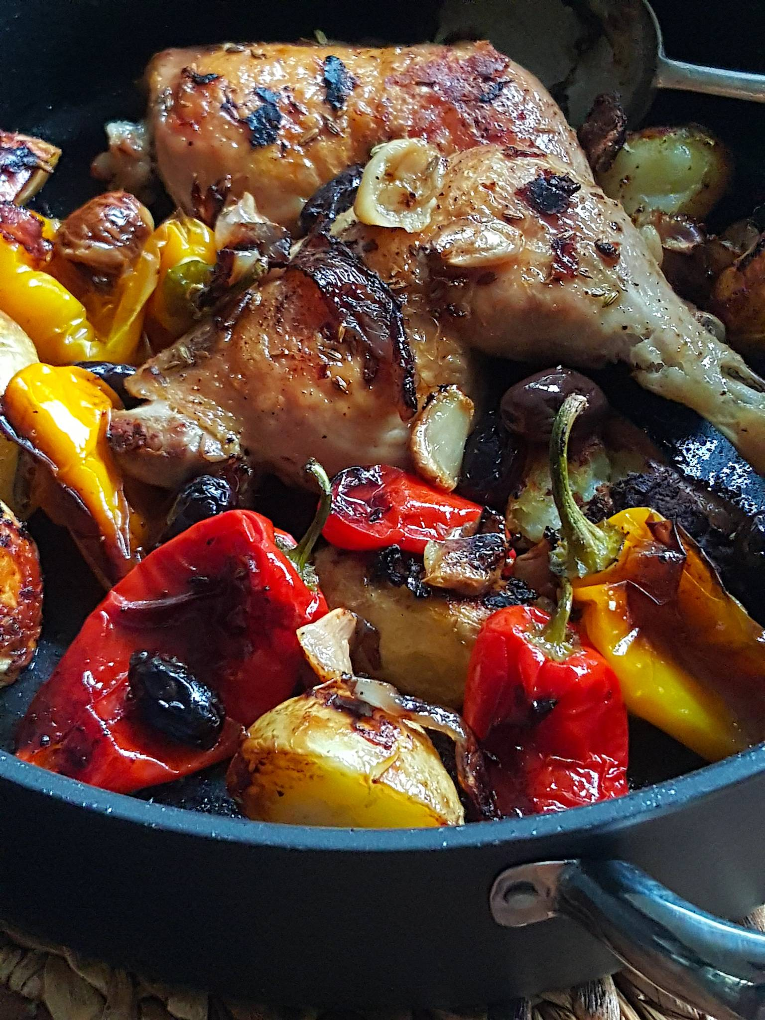 Scrumptious Baked Chicken with Peppers