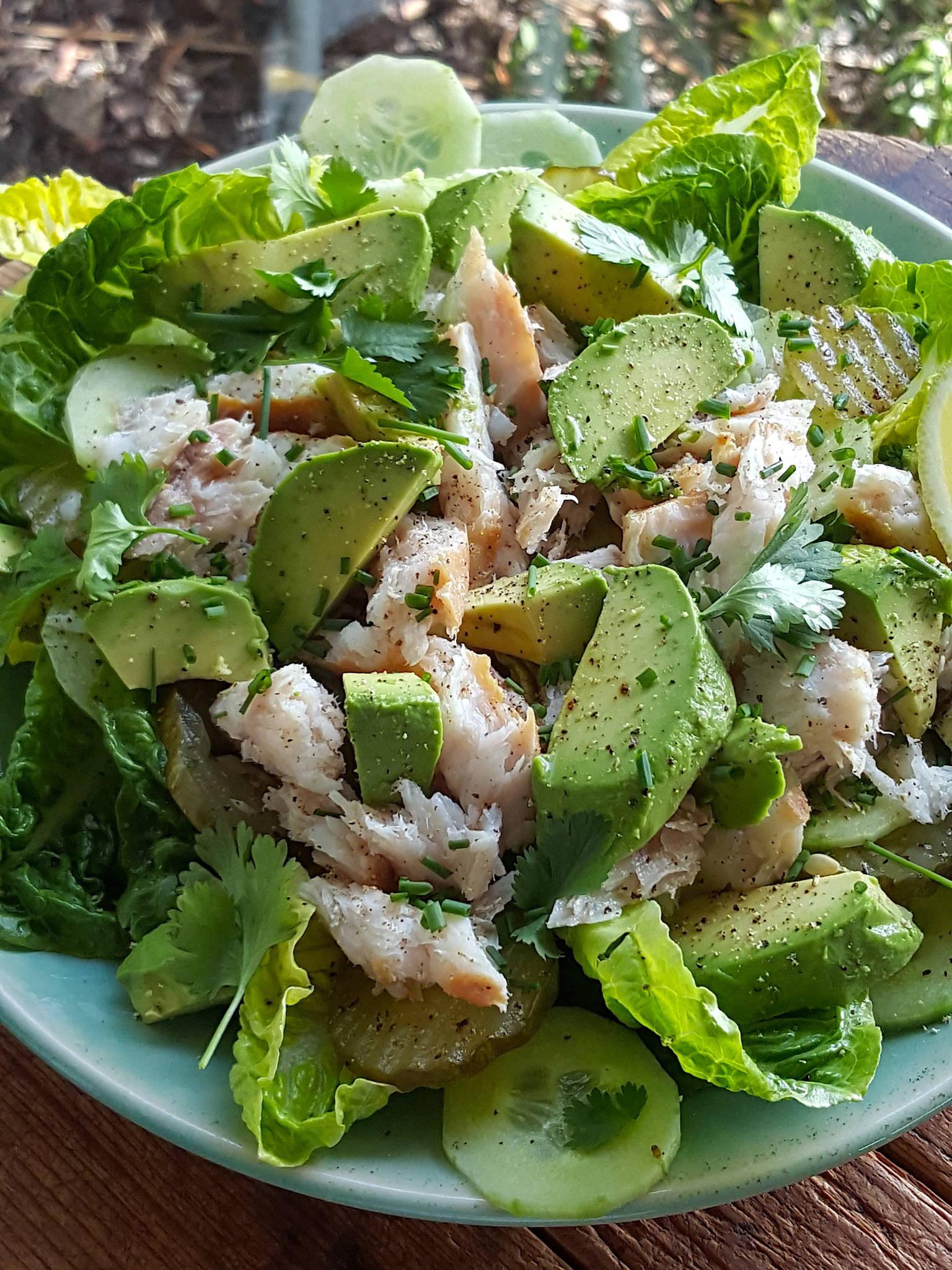 Smoked Fish & Avocado Salad