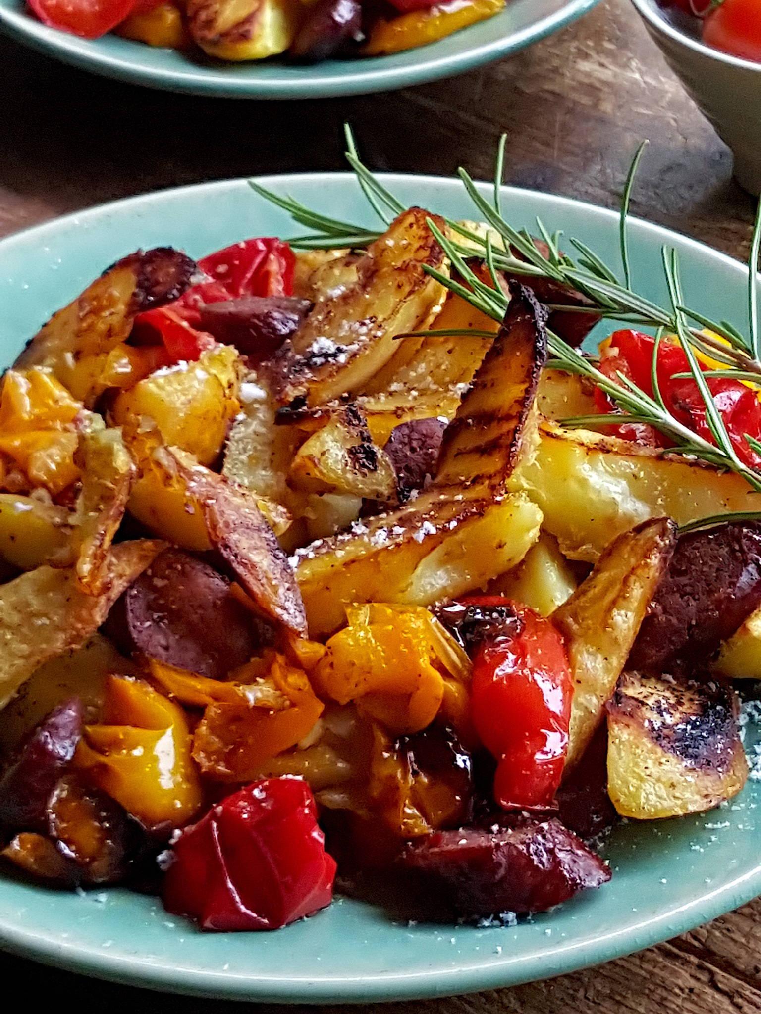 Potatoes, Peppers & Chorizo