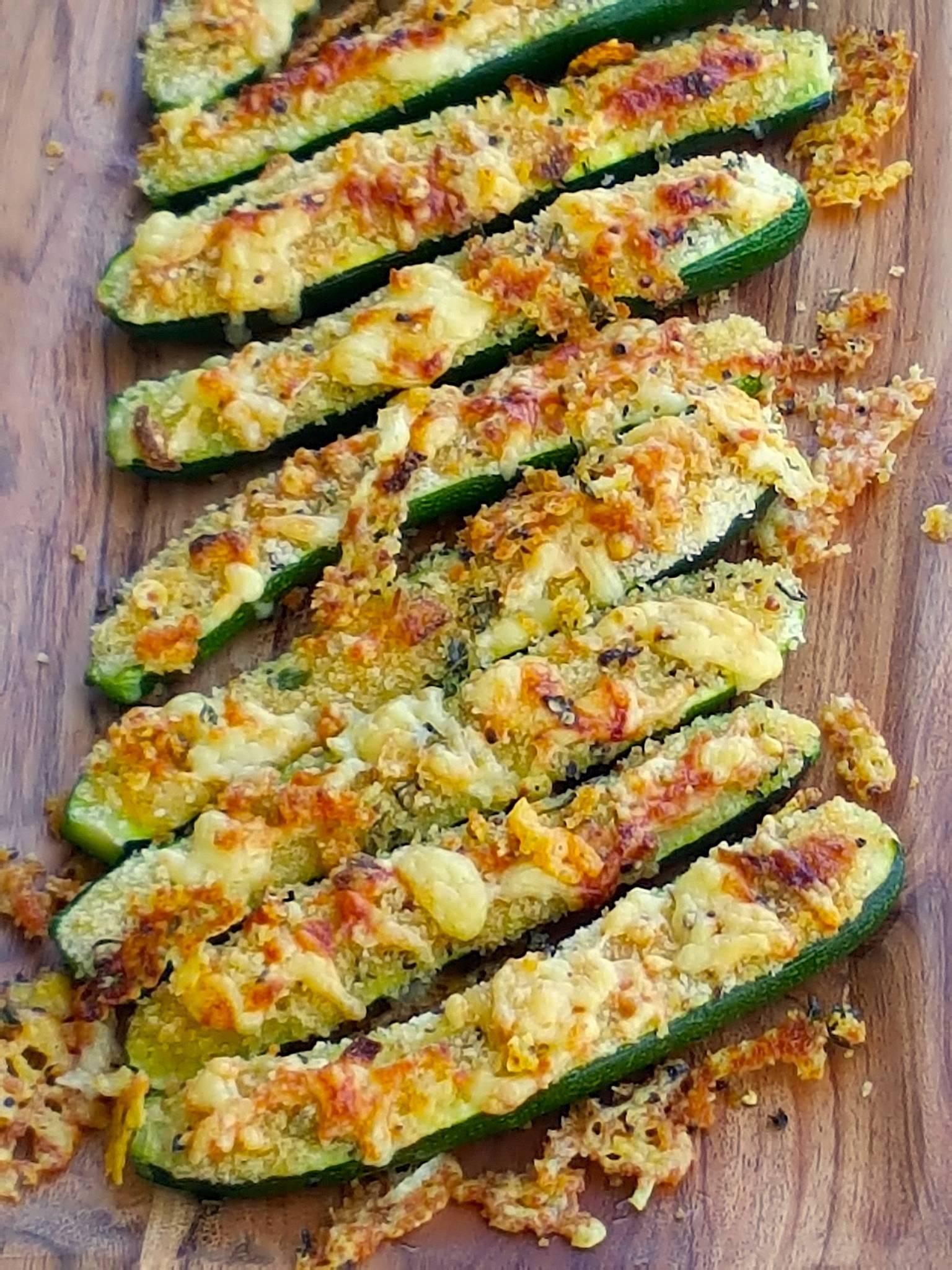 golden cheesy zucchini