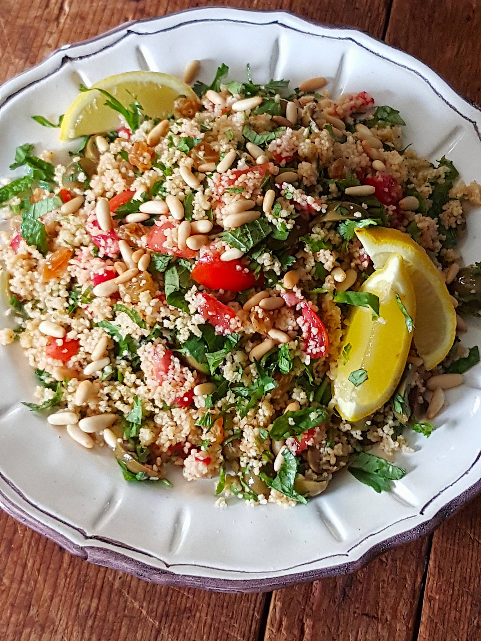 Couscous with Green Olives & Pine Nuts