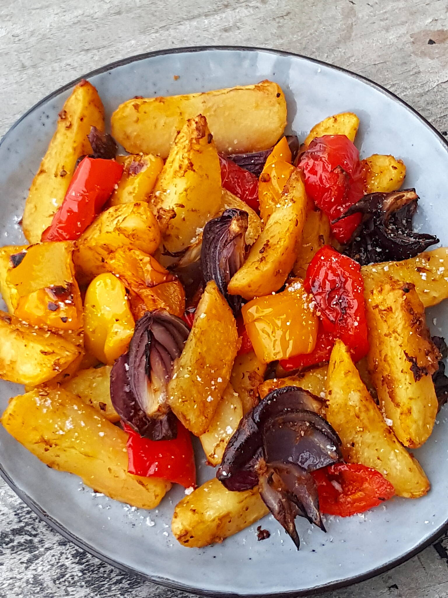 Spicy Potato, Red Onion & Pepper Bake