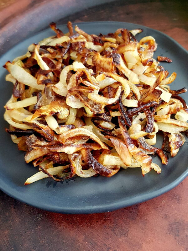 Sizzled onions – how to do them properly.