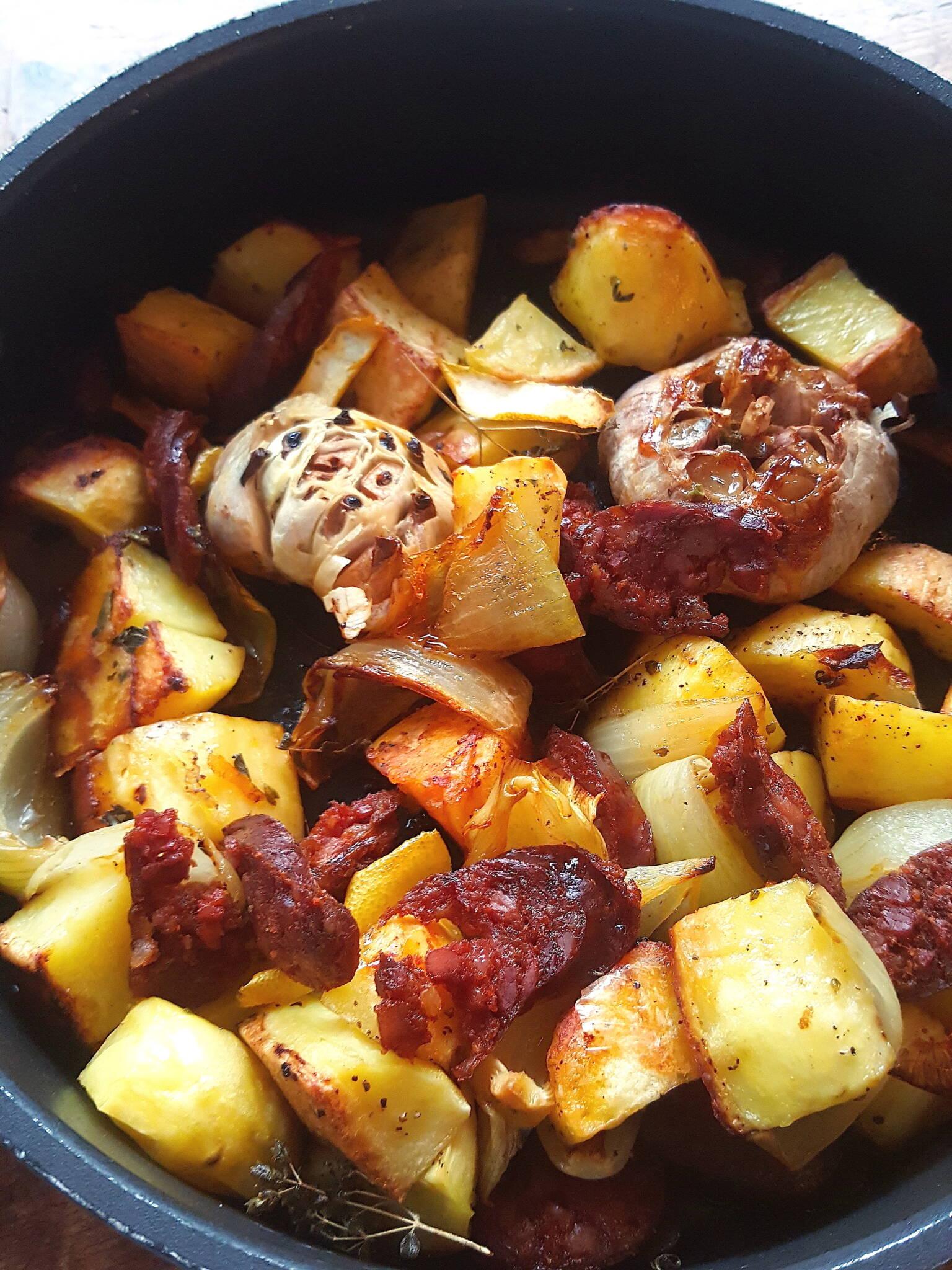 Roasted Potatoes & Chorizo