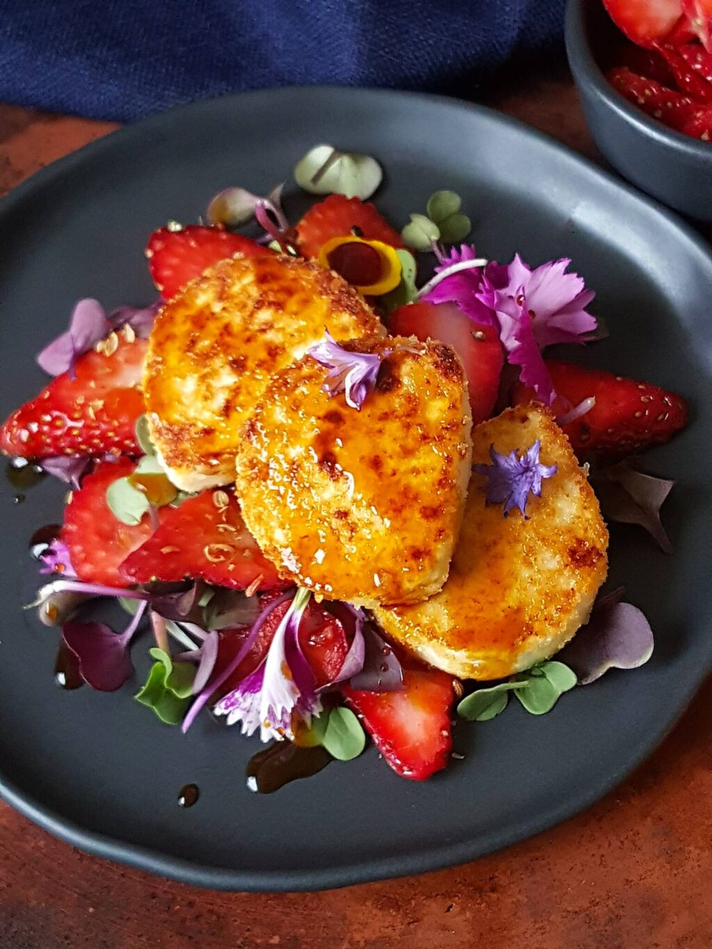 Goat's Cheese with Strawberries