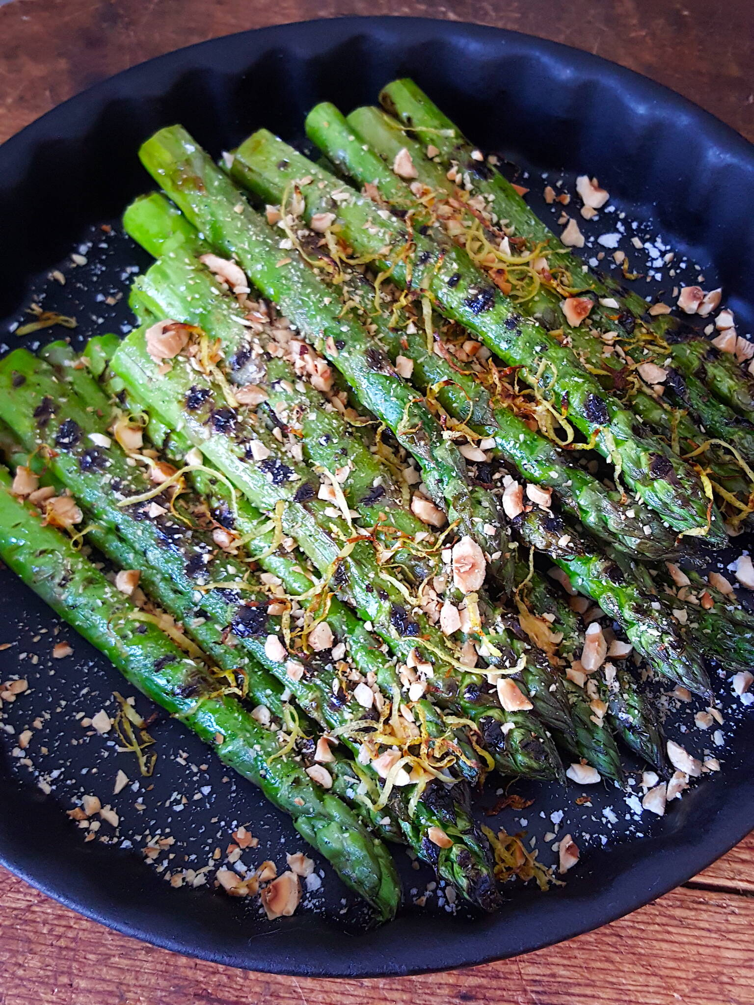 Get grilling! Grilled Asparagus with Toasted Hazelnuts