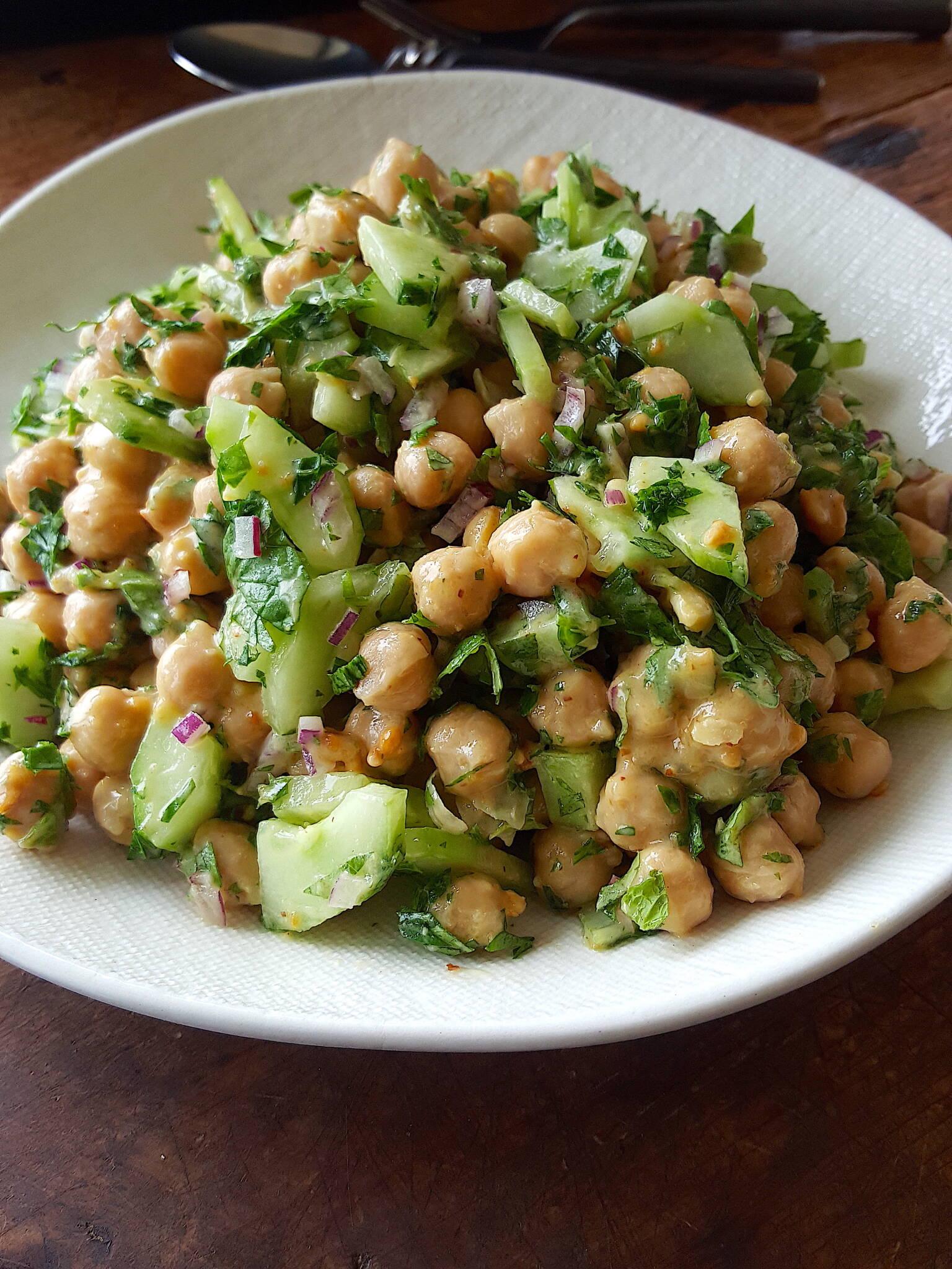 Chickpea & Cucumber Salad