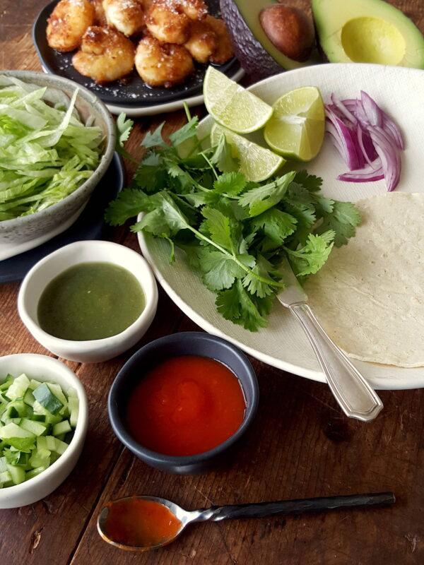 Crispy Crumbed Prawn Tacos