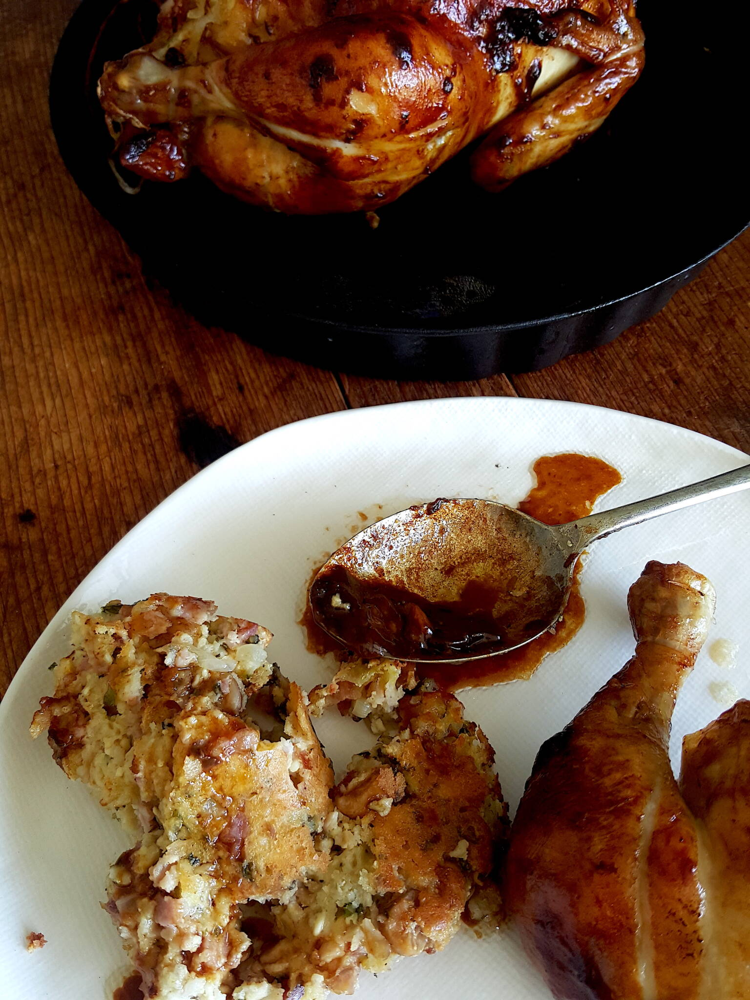 Delicious sticky goo from roasted chicken