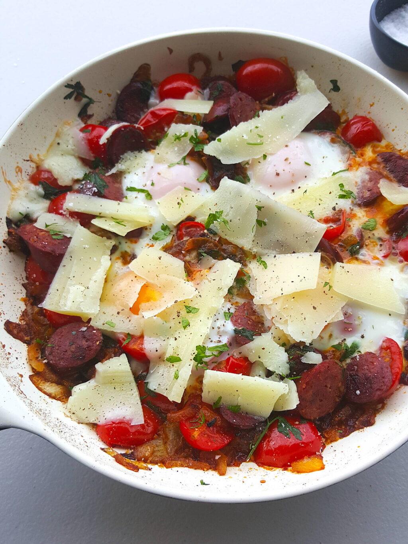 Eggs with Chorizo & Manchego
