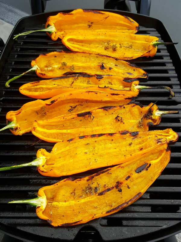 Grilled Sweet Palermo Peppers