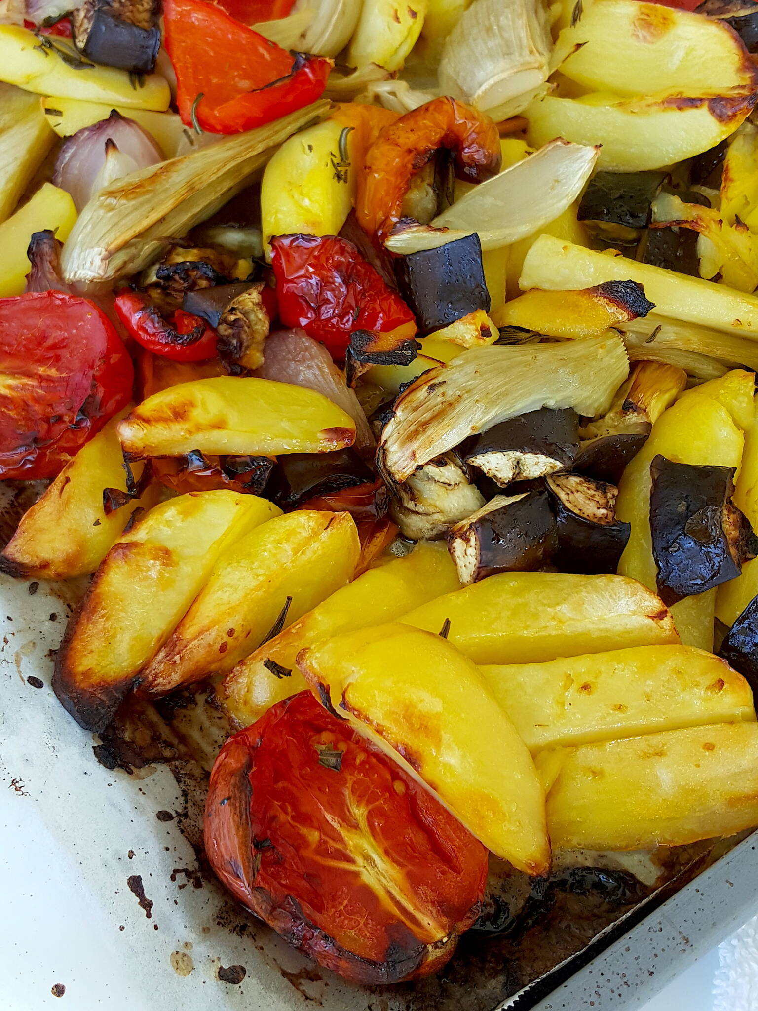 Greek-style baked vegetables