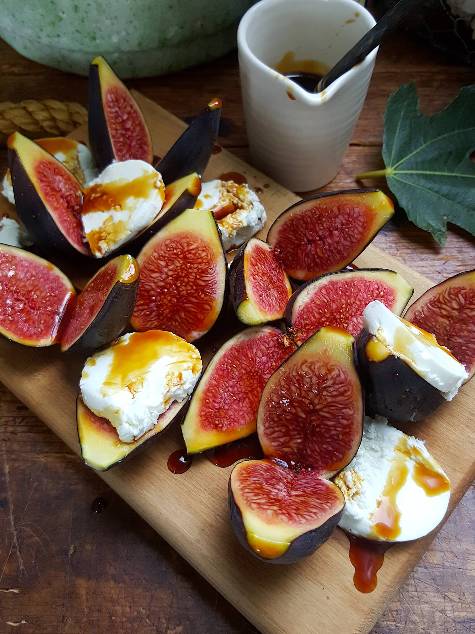 Figs with Goats' Cheese & Vincotto