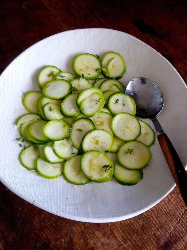 Zucchini with Thyme & Garlic