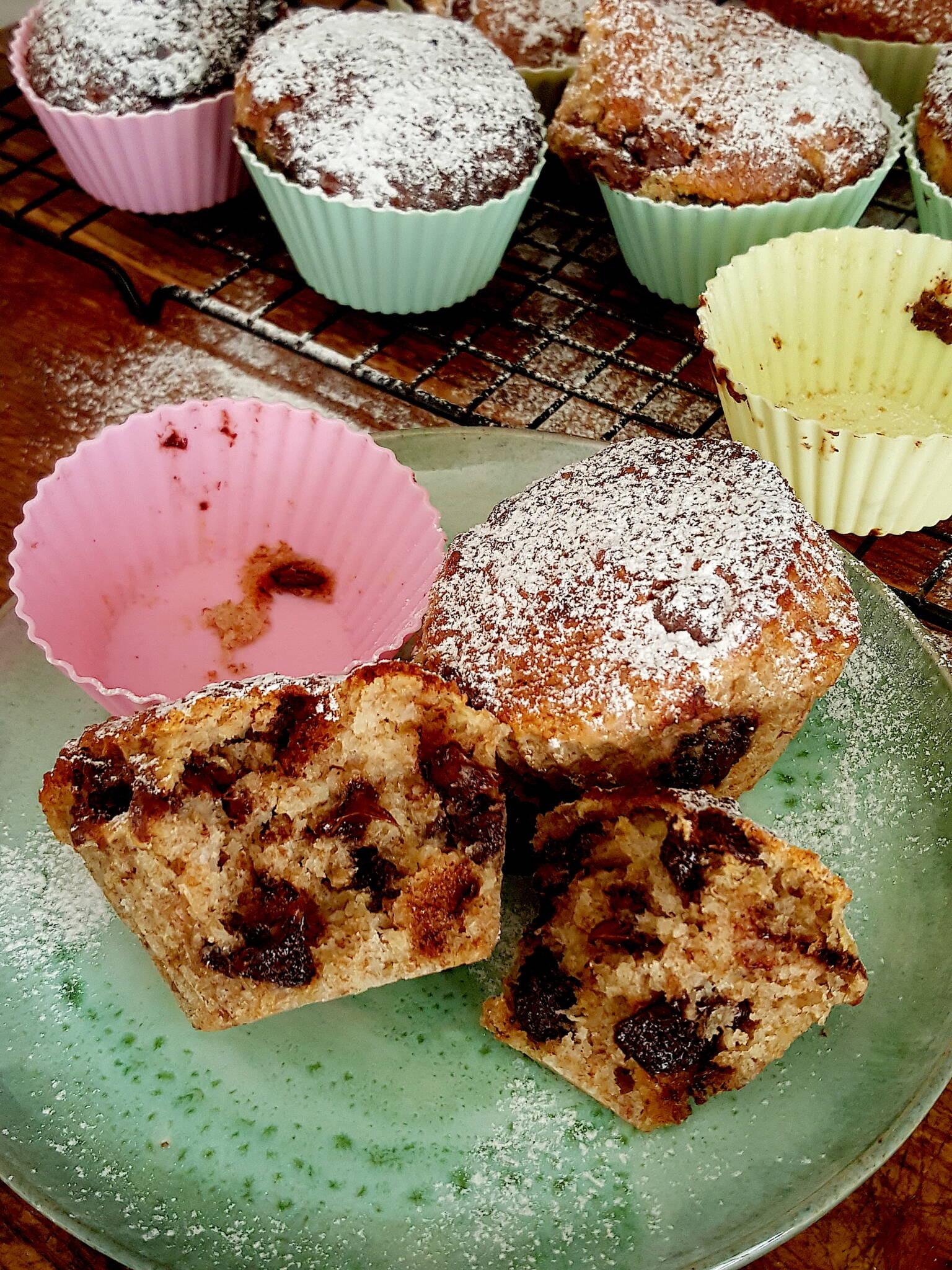 Banana & Chocolate Drop Muffins