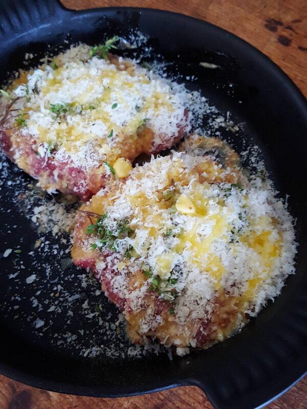 Lamb Rumps with Parmesan Crust