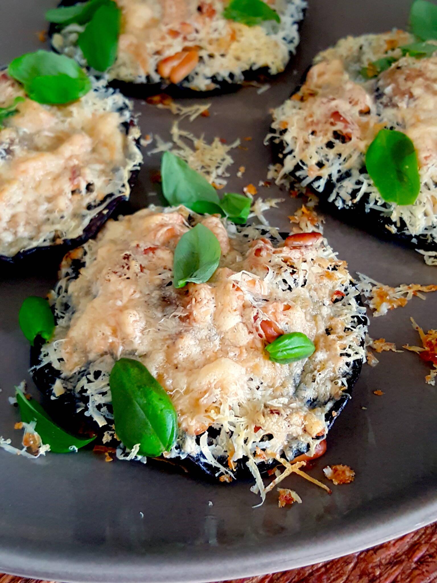 Mushrooms with Pine Nuts & Pecorino