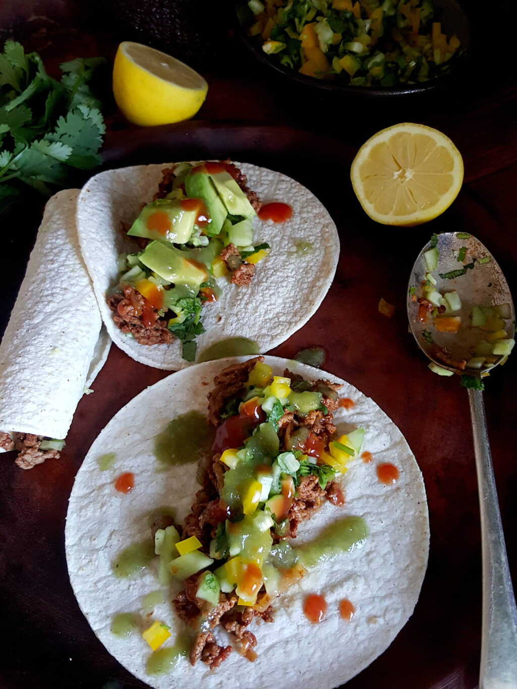 Tacos with Lamb in Adobo Sauce