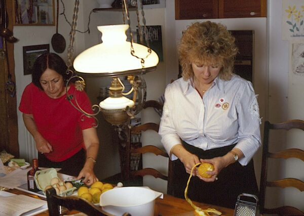 Julie Biuso cooking with Claudia Roden