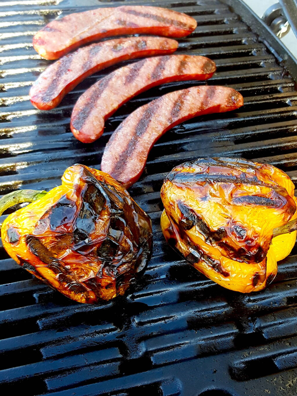 Grilling peppers & chorizo