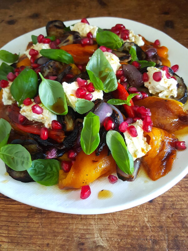 Grilled Vegetables with Buffalo Cheese